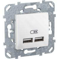 2 USB зарядное устройство, 2.1А, бел