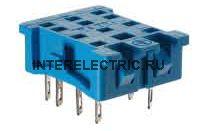 94.22.SMA | Розетка для монтажа на панель реле 55.32, 85.02 с металлическим фиксатором; подключение пайкой; 10А