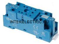 94.82.SMA | Розетка для реле 55.32, 85.02 и модуля 99.01 с комбинированными контактами; с металлическим фиксатором; винтовые зажимы; узкая; синяя; 10А