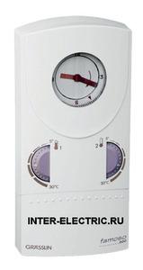043400011 | FAMOSO 500 Комнатный хронотермостат на 2 температуры, с механическим суточным таймером, 230В AC, 1 перекидной контакт 5А