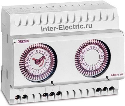022800081 | TALENTO 202 Таймер с суточной и недельной программой; 2 перекидных контакт 16А, 230В AC - 130В DC